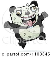 Clipart Jumping Ugly Panda Royalty Free Vector Illustration by Cory Thoman
