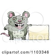 Clipart Ugly Rat With A Sign Royalty Free Vector Illustration by Cory Thoman