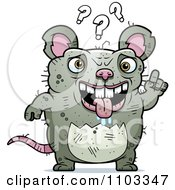 Clipart Confused Ugly Rat Royalty Free Vector Illustration by Cory Thoman