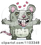 Clipart Loving Ugly Rat Royalty Free Vector Illustration by Cory Thoman