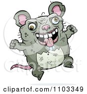 Clipart Jumping Ugly Rat Royalty Free Vector Illustration by Cory Thoman