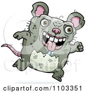 Clipart Running Ugly Rat Royalty Free Vector Illustration by Cory Thoman