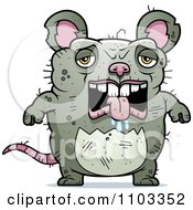 Clipart Depressed Ugly Rat Royalty Free Vector Illustration