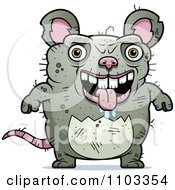 Clipart Drooling Ugly Rat Royalty Free Vector Illustration by Cory Thoman