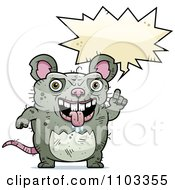 Clipart Talking Ugly Rat Royalty Free Vector Illustration by Cory Thoman