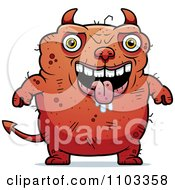 Clipart Drooling Ugly Devil Royalty Free Vector Illustration