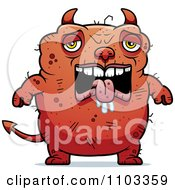 Clipart Sad Ugly Devil Royalty Free Vector Illustration by Cory Thoman