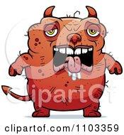 Clipart Sad Ugly Devil Royalty Free Vector Illustration