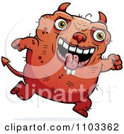 Clipart Jumping Ugly Devil Royalty Free Vector Illustration by Cory Thoman