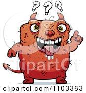 Clipart Dumb Ugly Devil Royalty Free Vector Illustration