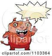 Clipart Talking Ugly Devil Royalty Free Vector Illustration