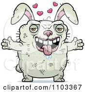 Clipart Loving Ugly Rabbit Royalty Free Vector Illustration by Cory Thoman