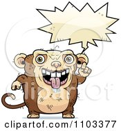 Clipart Talking Ugly Monkey Royalty Free Vector Illustration by Cory Thoman