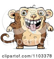 Clipart Drooling Ugly Monkey Royalty Free Vector Illustration by Cory Thoman