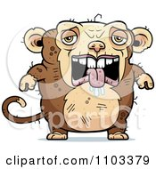 Clipart Depressed Ugly Monkey Royalty Free Vector Illustration