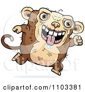 Clipart Running Ugly Monkey Royalty Free Vector Illustration by Cory Thoman