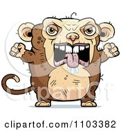 Clipart Angry Ugly Monkey Royalty Free Vector Illustration by Cory Thoman