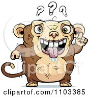 Clipart Confused Ugly Monkey Royalty Free Vector Illustration by Cory Thoman