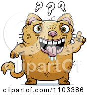 Clipart Confused Ugly Cat Royalty Free Vector Illustration by Cory Thoman