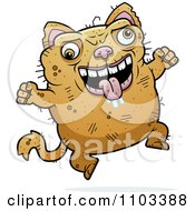 Clipart Jumping Ugly Cat Royalty Free Vector Illustration by Cory Thoman