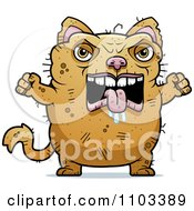 Clipart Angry Ugly Cat Royalty Free Vector Illustration by Cory Thoman