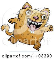 Clipart Running Ugly Cat Royalty Free Vector Illustration by Cory Thoman