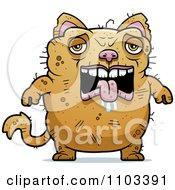 Clipart Sad Ugly Cat Royalty Free Vector Illustration by Cory Thoman