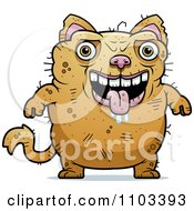 Clipart Drooling Ugly Cat Royalty Free Vector Illustration by Cory Thoman