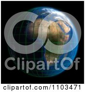 Clipart 3d African Globe On Black Royalty Free CGI Illustration
