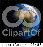 Clipart 3d Globe Featuring Africa On Black Royalty Free CGI Illustration