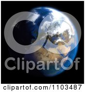 Clipart 3d Globe Featuring Europe On Black Royalty Free CGI Illustration