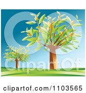 Clipart Dollar Trees In A Hilly Landscape 1 Royalty Free Vector Illustration by creativeapril