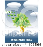 Clipart Dollar Tree In A Flood Over Investment Risks Text Royalty Free Vector Illustration by creativeapril