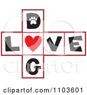 Hop Scotch Dog Love Layout With A Heart