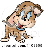 Happy Brown Puppy Dog Looking Back