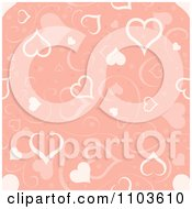 Clipart Pastel Pink Heart And Swirl Background Pattern Royalty Free Vector Illustration