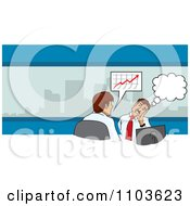 Clipart Businessman Day Dreaming In A Meeting Royalty Free Vector Illustration by David Rey