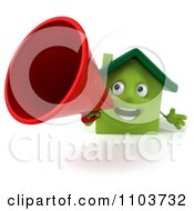 Clipart 3d Green Clay Home Announcing 1 Royalty Free CGI Illustration