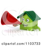 Clipart 3d Green Clay Home Announcing 2 Royalty Free CGI Illustration
