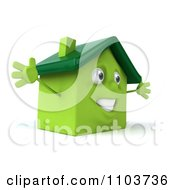 Clipart 3d Green Clay Home Royalty Free CGI Illustration