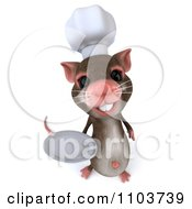 Clipart 3d Chef Mouse Holding A Plate 3 Royalty Free CGI Illustration