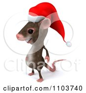 3d Christmas Mouse Facing Left