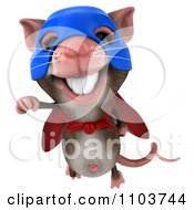 Clipart 3d Super Mouse Flying Royalty Free CGI Illustration