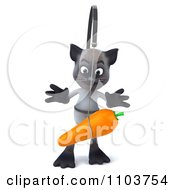 3d Siamese Cat Chasing A Carrot 1