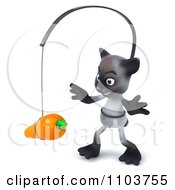 3d Siamese Cat Chasing A Carrot 2