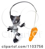 3d Siamese Cat Chasing A Carrot 3