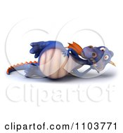 Clipart 3d Purple Dragon Reclined Royalty Free CGI Illustration