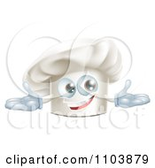 Clipart Happy Chef Hat Mascot Royalty Free Vector Illustration by AtStockIllustration