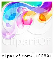 Clipart Colorful Splash With Copyspace On Gray Royalty Free Vector Illustration