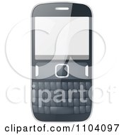 Clipart Cell Phone Royalty Free Vector Illustration by Andrei Marincas